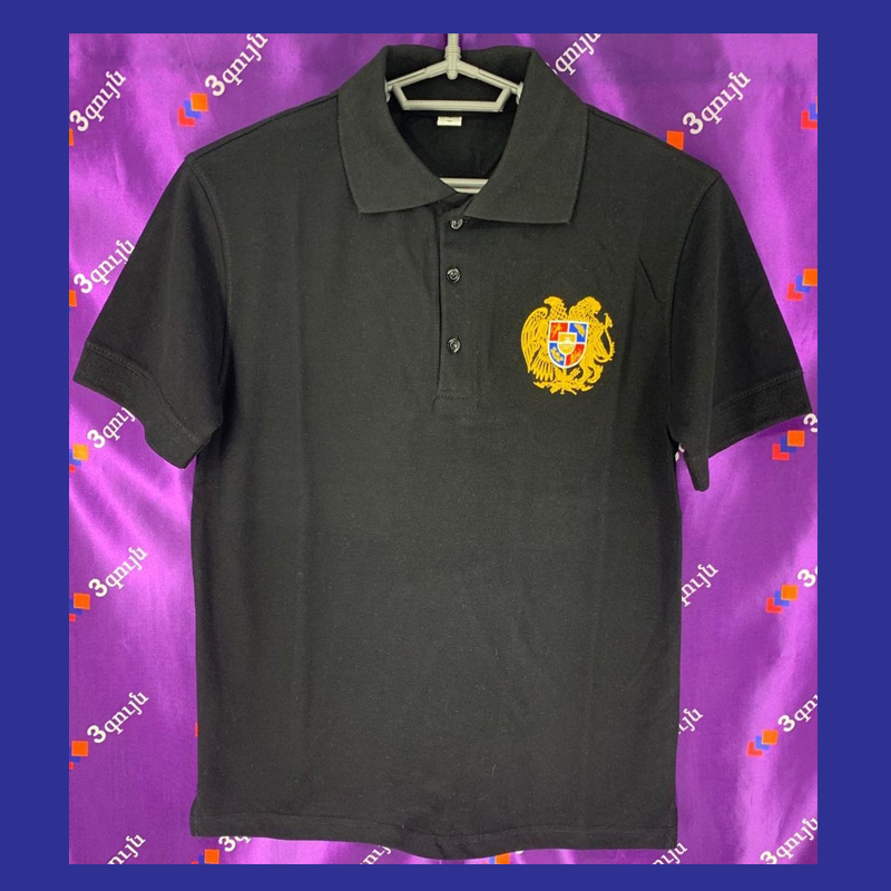 Adult Black Polo TShirt