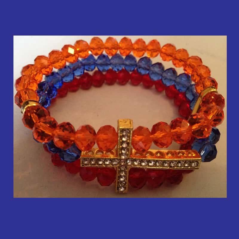 Armenian Bracelet - ARMENIAN TRICOLOR CROSS BRACELET
